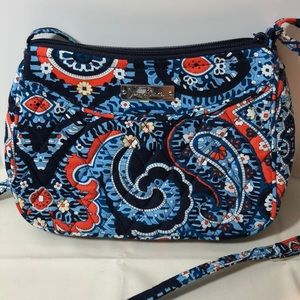 Vera Bradley handbag blue and orange mosaic